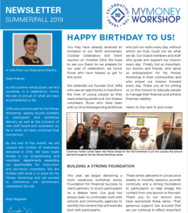 Summer Newsletter screenshot