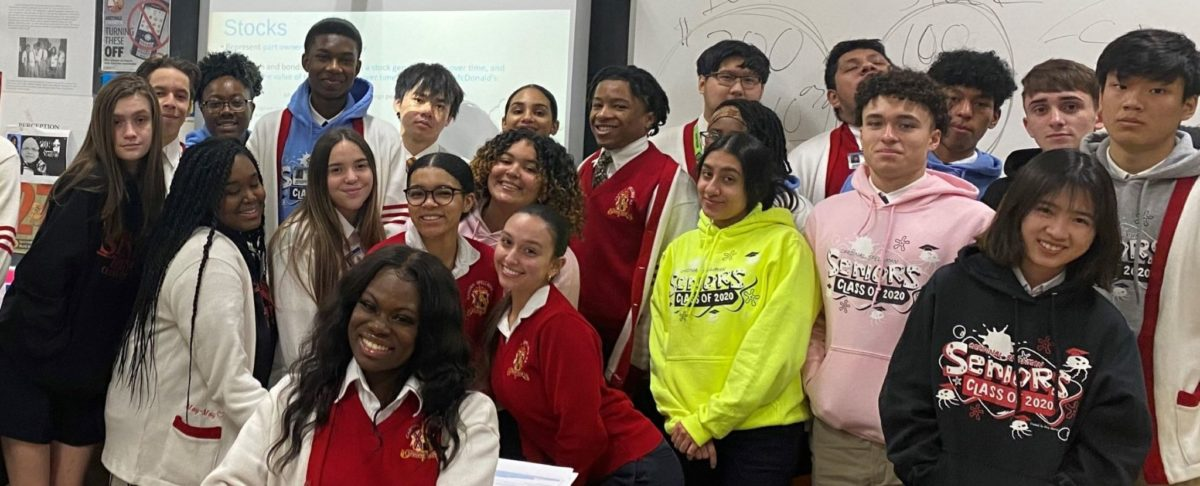 Students in Cardinal Spellman